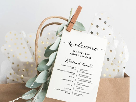 destination wedding welcome letter ideas