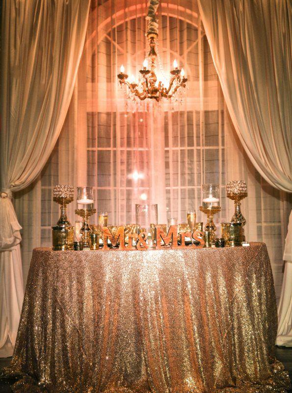Ivory And Gold Sweetheart Table Casa Marina Wedding Reception