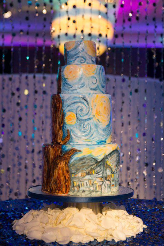 Starry Night wedding cake | Ballrooms | Photo Gallery | D\'Asigner Events
