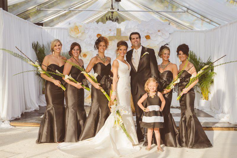 Black White And Gold Themed Wedding Resort Wedding Photo Gallery